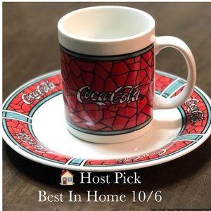 Vintage Coca Cola Coffee Mug & Plate